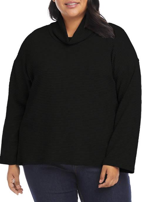 Karen Kane Plus Size Ribbed Turtleneck Sweater