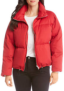 Puffer Jacket with Zip Up Closure