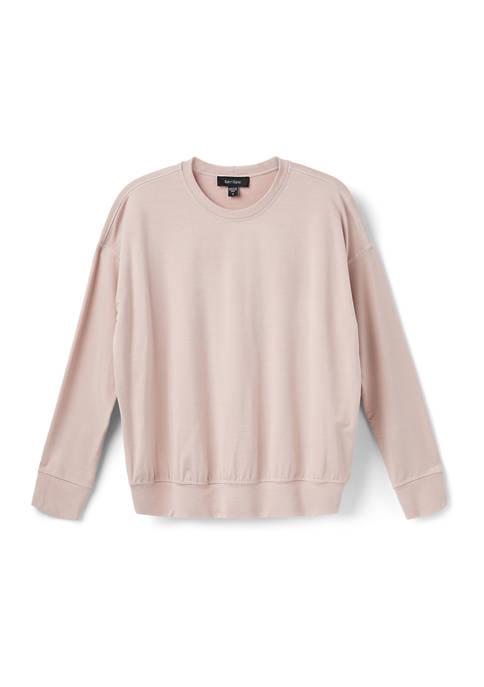 Karen Kane Womens Contour Stitch Sweatshirt