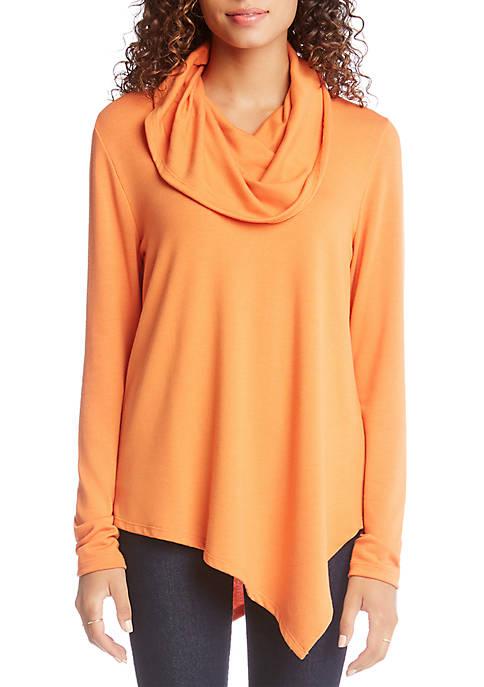 Asymmetric Cowl Neck Sweater