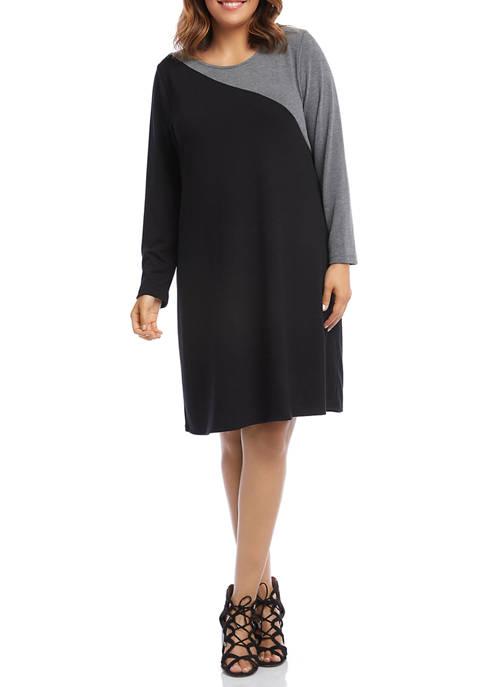 Karen Kane Plus Size Contrast Sweater Dress