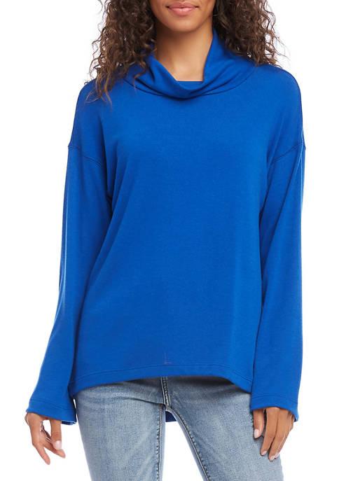 Karen Kane Womens Cowl Neck Sweater