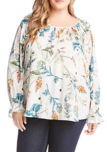 dde531255c8 ... Karen Kane Plus Size Ruffle Cuff Top