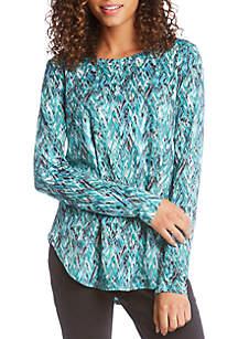 Karen Kane Long Sleeve Shirttail Tee
