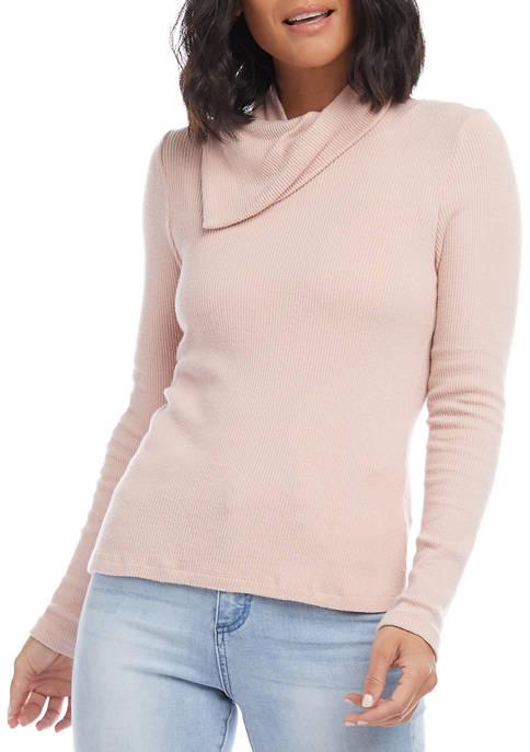 Karen Kane Petite Drape Neck Sweater