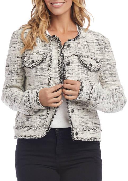 Womens Fringe Detail Jacket