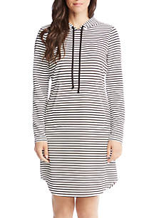Stripe Hooded Dress