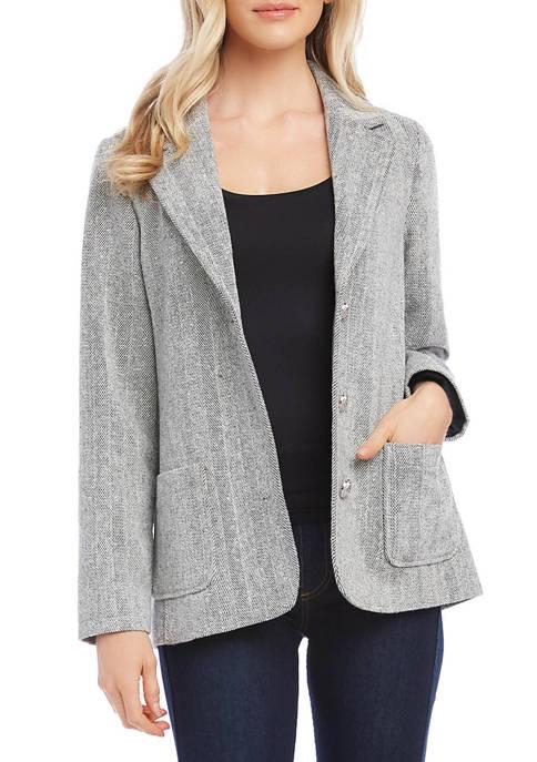 Karen Kane Womens Tweed Blazer