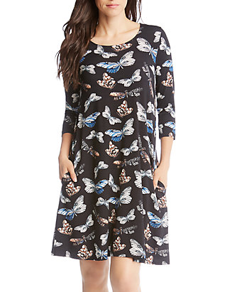 e0797009f679 Karen Kane 3/4 Sleeve Chloe Dress | belk