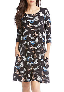 Karen Kane 3/4 Sleeve Chloe Dress