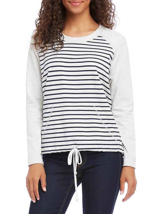 Karen Kane Womens Contrast Stripe Pullover