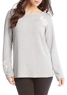 Karen Kane Embellished Sweatshirt