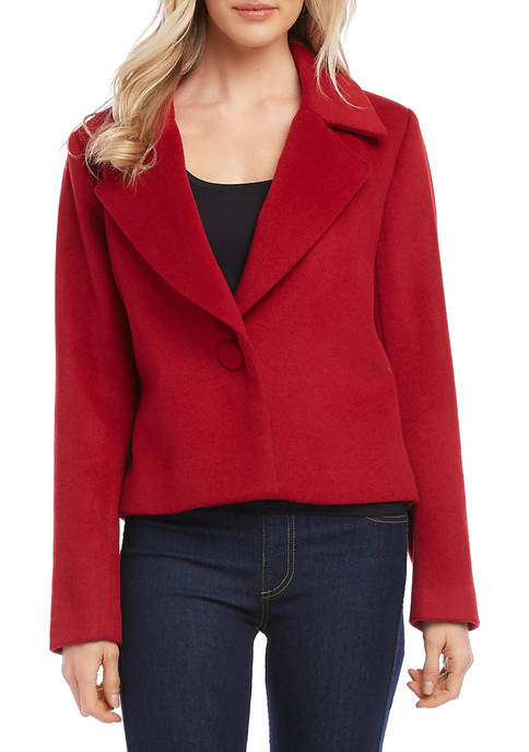 Karen Kane Womens One Button Blazer