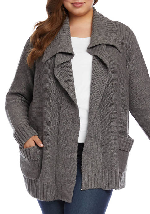 Karen Kane Plus Size Shawl Collar Cardigan