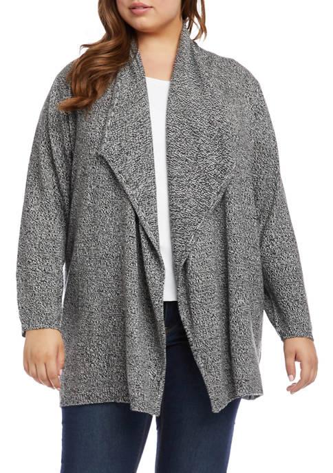 Karen Kane Plus Size Drape Front Cardigan