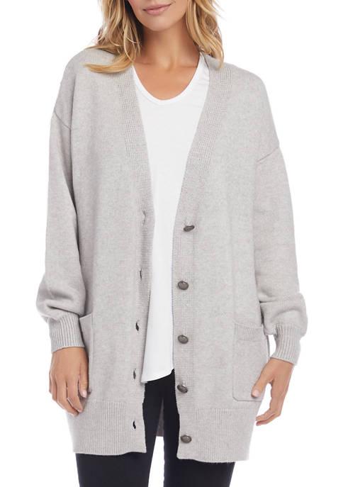 Karen Kane Womens Blouson Sleeve Cardigan