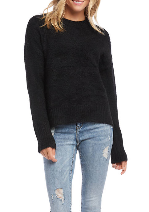 Karen Kane Womens Pullover Eyelash Sweater