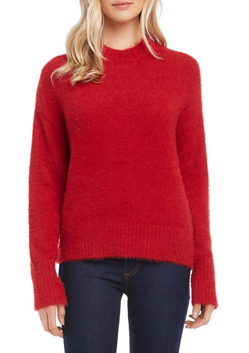 Womens Pullover Eyelash Sweater
