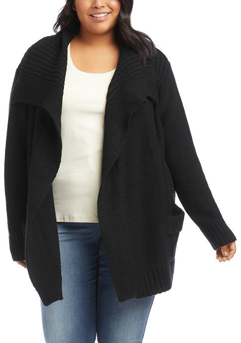 Karen Kane Plus SIze Shawl Collar Cardigan
