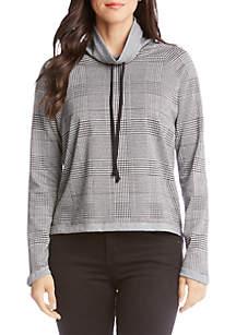 Funnel Neck Contrast Sweatshirt