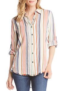 Fringe Button Down Shirt