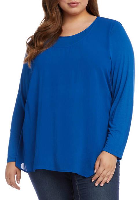 Karen Kane Plus Size Overlay Top