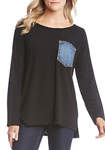 Denim Pocket Sweater