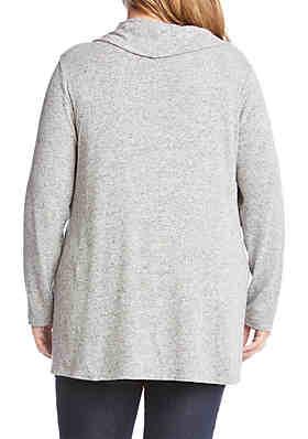 fe8f6ebb3f7be ... Karen Kane Plus Size Cowl Neck Sweater