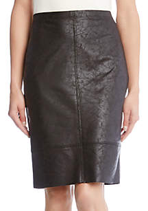 Faux Leather Texture Skirt