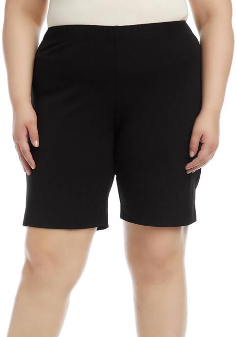 Karen Kane Plus Size Bermuda Shorts