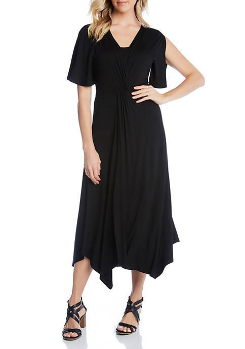 Karen Kane Asymmetric Twist Front Dress