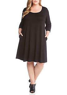 Plus Size 3/4 Sleeve Chloe Dress