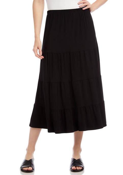 Womens Tired Midi Skirt