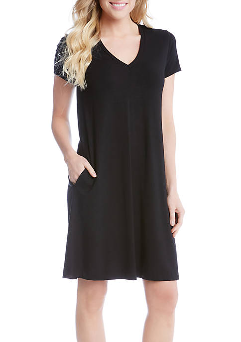 Karen Kane Quinn V-Neck Pocket Dress