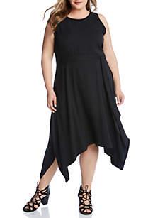 Karen Kane Plus Size Handkerchief Hem Dress