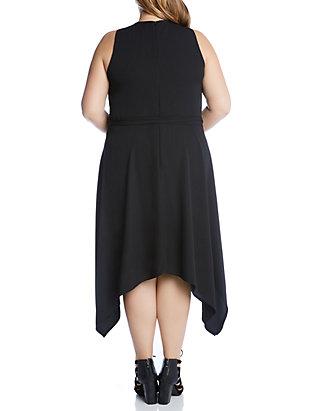 Karen Kane Plus Size Handkerchief Hem Dress   belk
