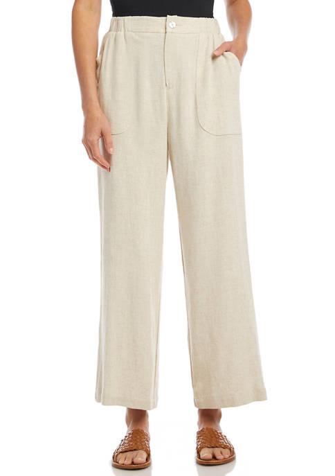 Karen Kane Womens Cropped Wide Leg Pants