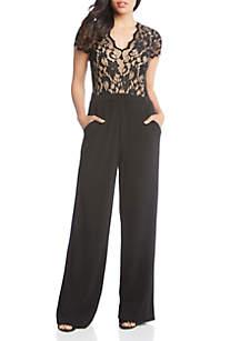 Contrast Lace Jumpsuit