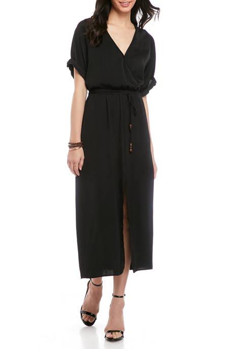 Karen Kane Womens Cuffed Sleeve Dress