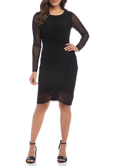 Karen Kane Womens Twiggy Twist Dress