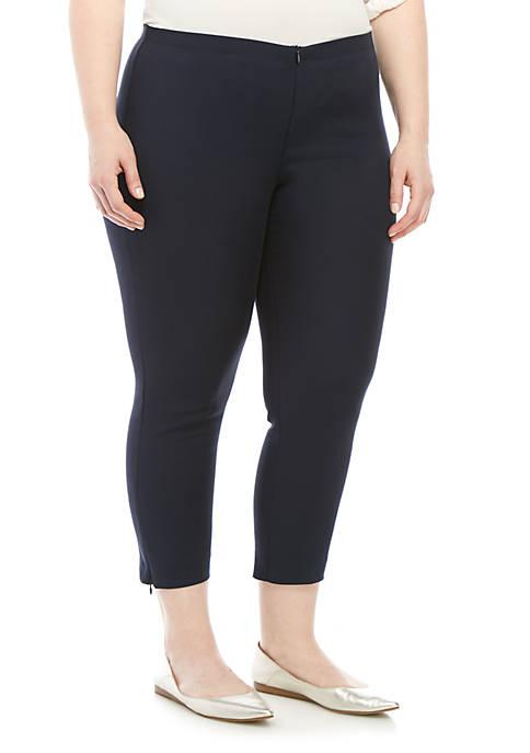 Karen Kane Plus Size Zip Hem Cropped Pants