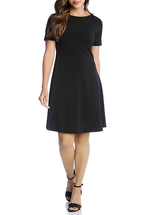 Karen Kane Short Sleeve A Line Dress