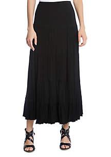 Karen Kane Crushed Tiered Maxi Skirt