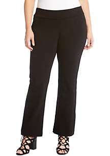 Plus Size Structured Knit Pant