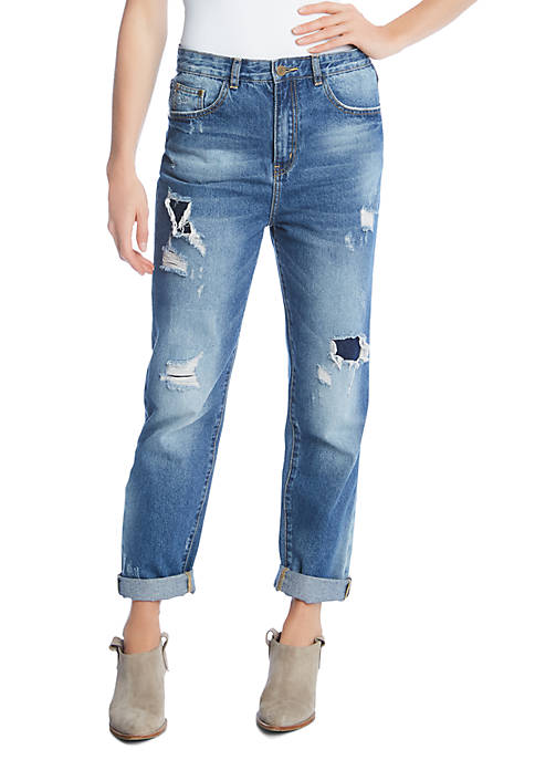 Karen Kane High Rise Girlfriend Jeans