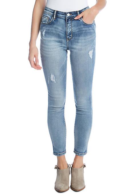 Karen Kane Distressed Skinny Jeans