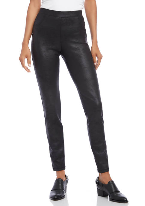 Womens Stretch Faux Leather Pants