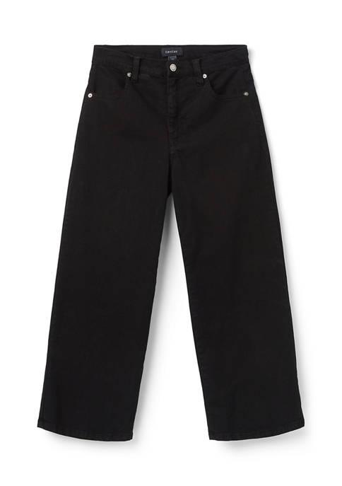 Karen Kane Womens Wide Leg Crop Jeans