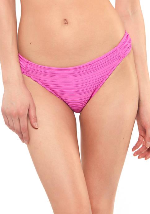 Jessica Simpson Side-Shirred Hipster Swim Bottoms