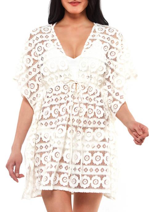Jessica Simpson Crochet Swim Cover Up